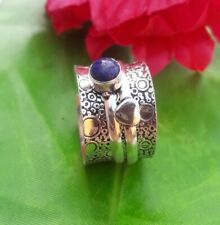 Lapis Lazui Solid 925 Sterling Silver Spinner Ring Meditation Ring Size sr11