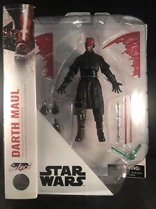 "Star Wars  Disney Store Exclusive Diamond Select 7"" Darth Maul New"