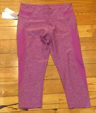 NWT Women's Heather Purple MARIKA TEK Sanded Dry-Wik Performance Fitted Capri S