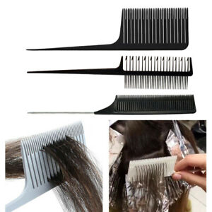 3x Hair Highlighting Foiling Hair Comb Hair Color Styling Dyeing Combs Set