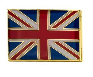 British Flag Square Pin Badge UK Great Britain Gloss Enamel Lapel Badge 18*12mm