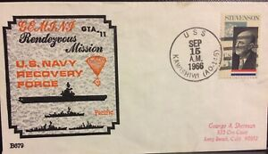 NAVAL SPACE BECK COVER #679 ONBOARD GT-11 TASK FORCE SHIP KAWISHIWI (AO-146)