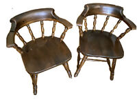 2 Vintage Ethan Allen Old Tavern Pine Dining Table Chairs Vanity Lot
