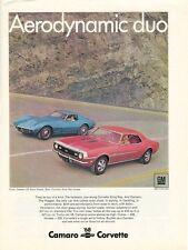 1968 Chevrolet CORVETTE Original CAMERO SS Coupe ADVERTISMENT 435hp TURBO V-8