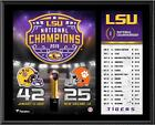"""LSU Tigers College Football Playoff 2019 National Champions 12"""" x 15"""" Plaque"""