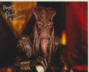 """Richard Stride In Person signed 10"""" x 8"""" photograph - Poggle - Star Wars - P234"""