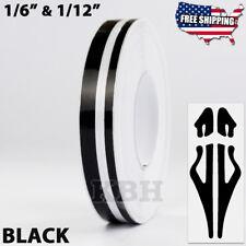 "1/2"" Roll Vinyl Double Line Pinstriping Pinstripe Decal Tape Sticker 12mm BLACK"
