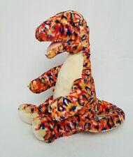 "Build A Bear Stuffed Dino Plush diplodocus Dinosaur Confetti 15"" Multi-color"