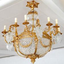 FRENCH EMPIRE CHANDELIER Schloss-Leuchter 24-FLAMMIG KRISTALL-KRONLEUCHTER LAMPE