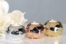 36239 Candelero Dubai hecho de cerámica plata para Luces té altura 6 ,5 cm · Ø 9