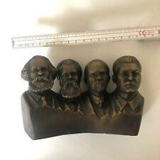 Karl Marx Engels Stalin Lenin Büste Statue Gipsfigure Kunst sowjetunion Gips