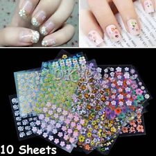 Random Fashion Decal Accessories Manicure Nail Decoration Nail Stickers 3D DIY