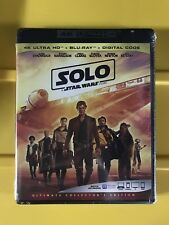 Solo A Star Wars Story 4K Ultra HD (4K+Bluray+Digital) Brand New NO SLIPCOVER