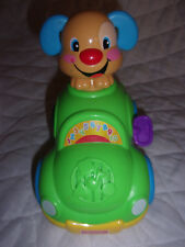 """2011 Mattel Fisher Price Laugh & Learn Puppy 8"""" Musical Learning Car Sturdy Toy"""