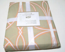 Pottery Barn Organic Cotton Light Brown Full Queen Aubrey Duvet Cover New