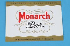 321 NOS Monarch Beer labels from 1950 Monarch Brewing Company Chicago Illinois