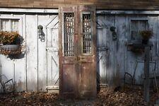 "Antique Doors Wood Iron Decorative Inserts Chippy Paint 18"" W x 88"" T Repurpose"