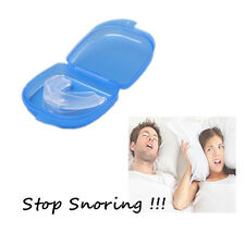 Anti Snore Soft Silicone Mouthpiece Apnea Bruxism Tray Night Sleeping Aid Home