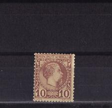 MONACO  prince Charles III   10c   lilas brun sur jaune    num: 4 *