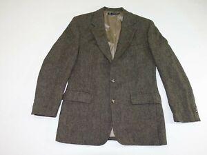 Brooks Brothers Men's Herringbone Tweed Sport Coat Size 39 Regular Brown Jacket