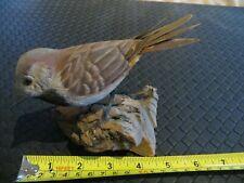 Wooden Bird Carving Faux Taxidermy Wood Sculpture Magargee Folk Art