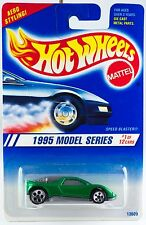 Hot Wheels No. 343 1995 Model Series #1 Speed Blaster Green w/5DOT's Gray Base