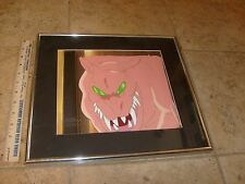 Stunning The Real Ghostbusters Original Animation Framed Cel W/ COA. Movie ZUUL?