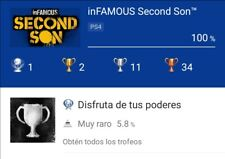 Infamous Second Son PS4 Platinum Trophy Service