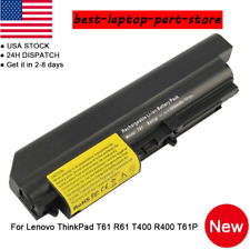 """6 Cell Battery for IBM Lenovo ThinkPad T400 R400 R61 T61 Series 14.1"""" Widescreen"""