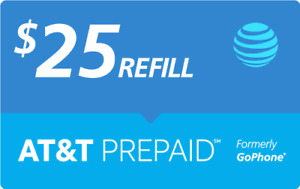 $25 AT&T PREPAID REFILL DIRECT to PHONE GET IT TODAY! 🔥 IF PAY BEFORE 11 PM ET