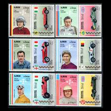Ajman, MI #364-79, MNH, 1969, Race Cars and Drivers, CL84F