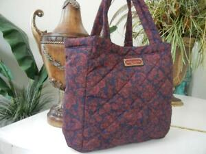 NWT MARC JACOBS LARGE QUILTED PEACOAT PAISLEY TOTE SHOULDER TRAVEL BAG $215