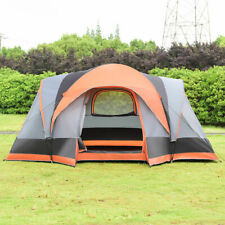 Portable 8 Person Automatic Pop Up Family Tent Easy Set-up Camping Hiking W/ Bag