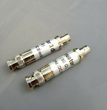 (2 PCS) BNC 3db 300KHz-3GHz DC Block Attenuator Pad 50 Ohm 2 Watt.- USA Seller