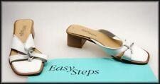 Block Leather Medium Width (B, M) Geometric Heels for Women