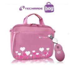 "Borsa TECHMADE + Mouse per Netbook da 10"" NS-065-PIK ROSA CUORI"