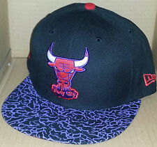 NWT NEW ERA Chicago BULLS IL 59FIFTY purple black size 7 3/8 fitted cap hat nba