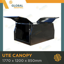 Steel Black Canopy Ute Toolbox 1770x1200x850 Dual Cab Storage Tool Box TBC0017