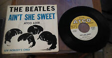 The Beatles Original 45 RPM Record + Rare Sleeve Ain't She Sweet Atco 6308