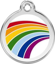Rainbow Enamel/Solid Stainless Steel Engraved ID Dog/Cat Tag