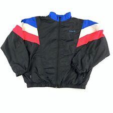 Vintage 80s Mens ADIDAS Color Block Tracksuit Full Zip Track Top Jacket Medium