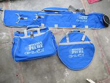 Bagagerie pour la pêche au coup : 3 bagages : (sac, fourreau, housse bourriche)