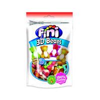 FINI 3D Gummi Bears Gluten Free Jelly Candy with Fruit Juice 180g 6.4oz