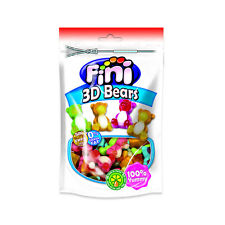 FINI 3D Gummi Bears Gluten Free Jelly Candy with Fruit Juice 180g 6.4oz