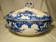 Furnivals Transferware Flow Blue Transfer Versailles Pattern Soup Tureen 1890-95