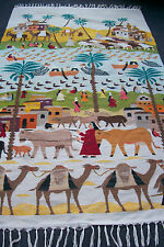 """Exquisite Rare Egypt Wall hanging Pictorial Flatweaves/Weaving Rug 4' 1"""" x 7' 3"""""""