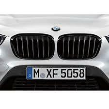 Black Kidney Grille Set Genuine BMW X1 F48 M Performance 51712407732 51712407733