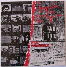 MIKIS THEODRAKIS (LP 33T) CHANSONS DE LUTTE  SONGS OF STRIFE  GRECE