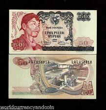 INDONESIA 50 RUPIAH P107 1968 REPLACEMENT PLANE ENGINE UNC* SUDIRMAN BRIDGE NOTE