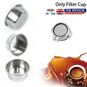 UK 1x Coffee  51mm Non-Pressurized Filter Basket Cup For Breville Delonghi Krups